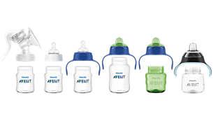 Kompatibilní sortiment od kojení po hrneček