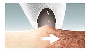 肌表面の不要な角質を除去し、なめらかで明るい肌へ
