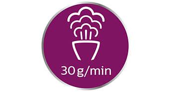 Vapor mais potente de até 30g/min. para resultados mais rápidos