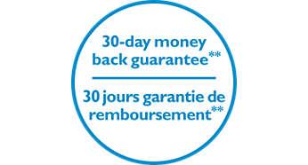 30-days money back guarantee, if not satisfied