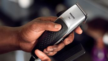 Textured handle for easy, non-slip grip