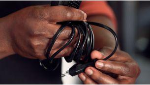 Extra-long 2.4 m cord
