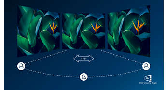 VA display delivers awesome images with wide viewing angles