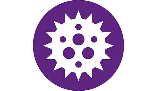 Filtrerer 99,97 % af partiklerne på 0,3 µm *