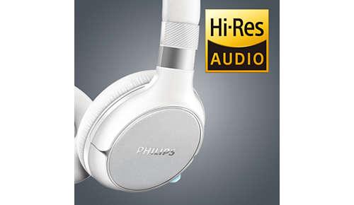 Audio met een hoge resolutie reproduceert muziek in haar puurste vorm