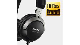 高解析度音效技術讓您以最純淨的音色收聽音樂
