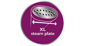 XL steam plate for quick results
