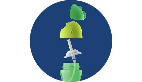 Puţine componente - uşor de asamblat şi curăţat (poate fi spălată în maşina de spălat vase)