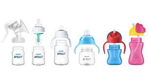 Kompatibel med flasker og kopper fra Philips Avent