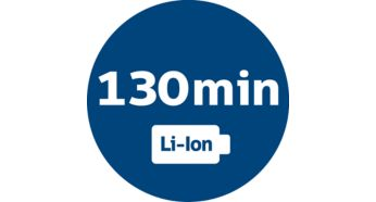Powerful Li-Ion battery for 130 min operating time