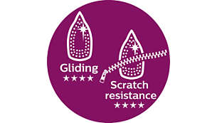 Superior gliding soleplate and scratch resistance