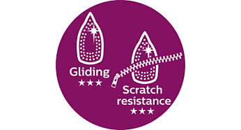 Great scratch resistance and easy gliding