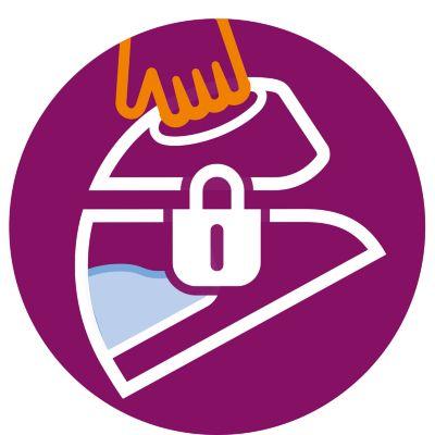 Bezpečný zámek pro zajištění při přenášení