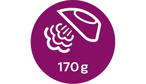 Dampfstoß von bis zu 170 g
