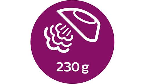 Höyrysuihkaus jopa 230g