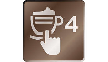 Enjoy 4 beverages at your fingertips