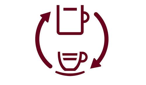 Herkullista suodatinkahvia tuoreista kahvipavuista CoffeeSwitch-vivun ansiosta