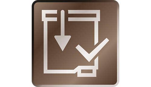Aktiver filteret problemfrit med Click&go-systemet
