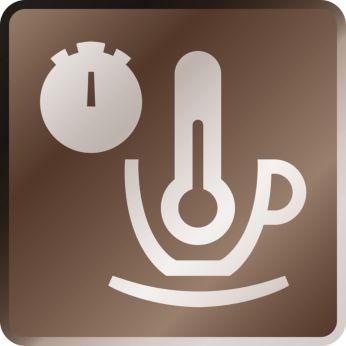 Heißer Kaffee ab der ersten Tasse dank schnell aufheizendem Boiler