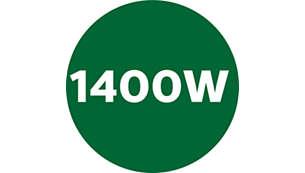 Powerful 1400 watts motor