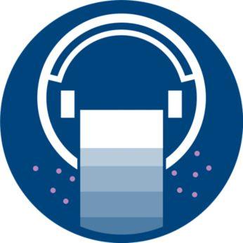 3 lépéses tisztítási rendszer nedves törlési funkcióval