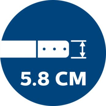 5,8 cm-es ultravékony kialakítás az alacsony bútorok alatti takarításhoz