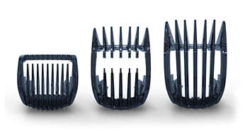 Includes 2 combs for short & long hair and one body comb