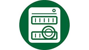 Visas detaļas var mazgāt trauku mazgāšanas mašīnā, izņemot galveno bloku