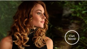 Philips Auto Curler Curl boost technology: great result at a caring heat setting