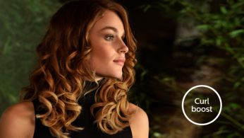 Curl boost technology: great result at a caring heat setting