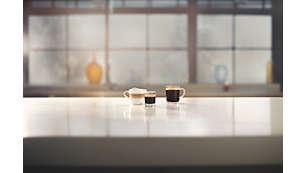 Desfrute de 3 cafés com apenas um toque