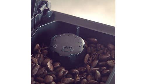 5 ustawień młynka umożliwia regulację ilości kawy