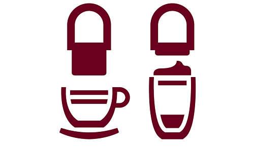 Ajusta la boquilla de salida del café para que encaje con cualquier taza