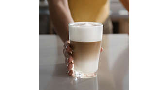 Smooth milk foam from the carafe frother