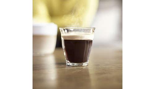 Koffie op de perfecte temperatuur met onze snel opwarmende boiler