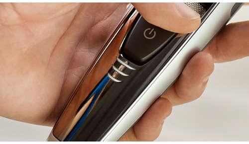 Možnost rychlé kontroly stavu baterie zastřihovače