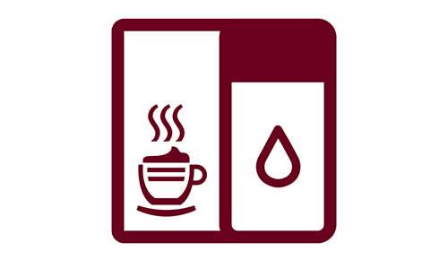 Możliwość parzenia cappuccino i latte macchiato za dotknięciem jednego przycisku dzięki zintegrowanej karafce do spieniania mleka