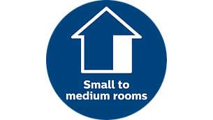 Ideaal voor kleine tot middelgrote kamers
