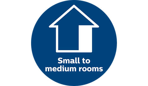 Ideal for small to medium rooms