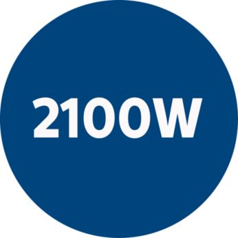 Мощный мотор 2100Вт для идеальных результатов уборки