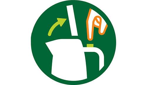 Roestvrijstalen deksel met veermechanisme