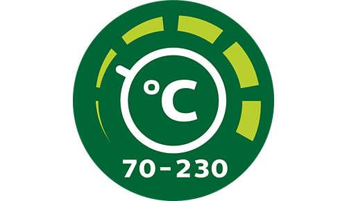 Regulowany termostat zapewnia doskonałe rezultaty w przypadku każdego dania