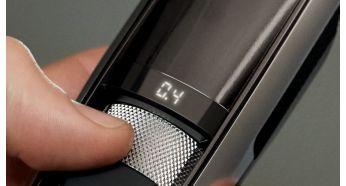 На светодиодном дисплее четко отображается установка длины