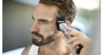 Wide hair clipper quickly trims even the thickest hair