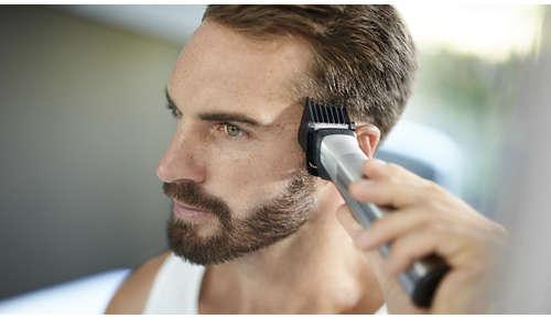 Il regolacapelli con testina ampia taglia anche i capelli più folti