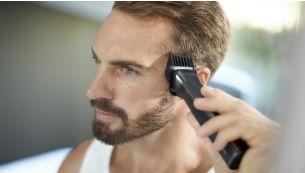 Широкая машинка для стрижки волос быстро подстригает даже самые густые волосы