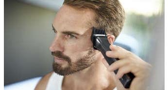 Breiter Haarschneider sogar für dickste Haare