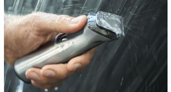 Showerproof for convenient use in the shower and cleaning