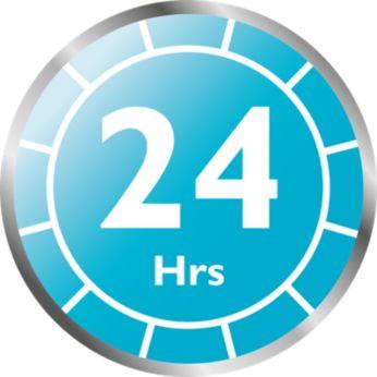 蓋子未打開下可維持長達 24 小時的無菌狀態