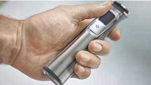The stainless steel frame and rubber grip improve control
